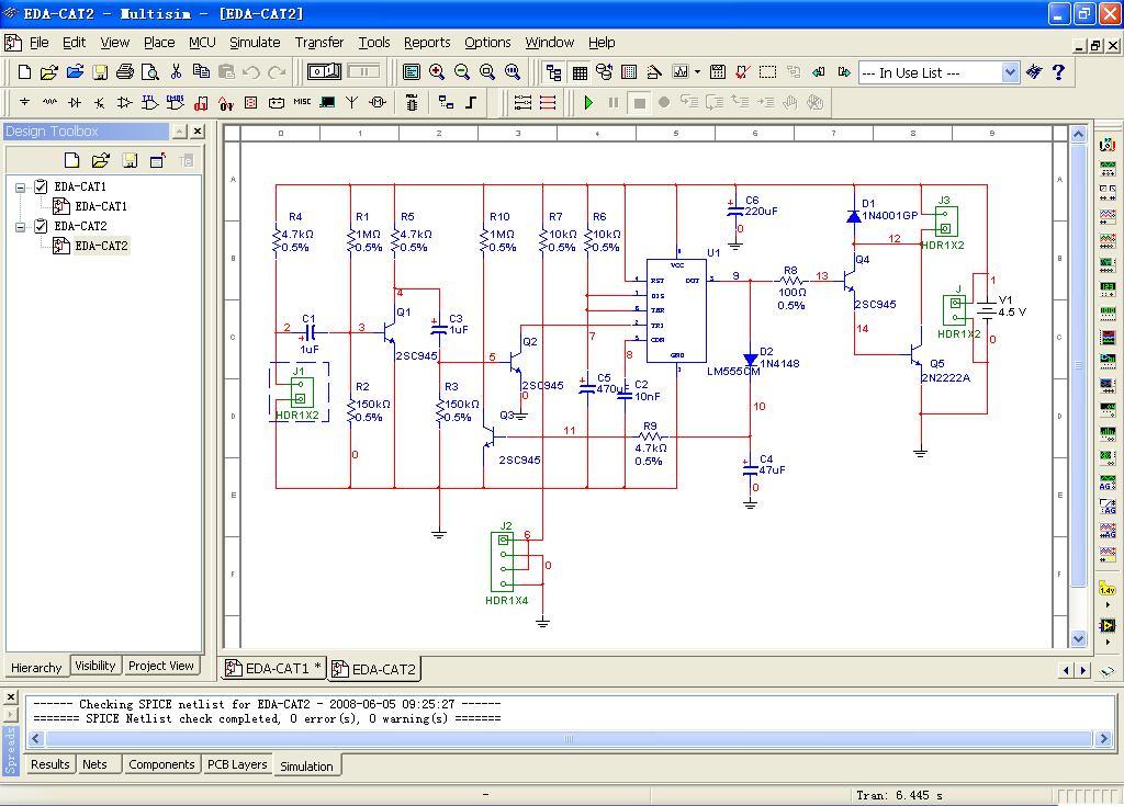 Author(s): 韦 思健 - 清华大学工程训练中心 在2002年之前,受条件限制学生仅根据原理图使用CAD软件设计印制电路板图,不能学习和体验电子设计和制造的全过程,教学内容也落后于工程上的主流技术,与真正的工程实际不符。所以,我们打算在引入电路仿真环节,结合SPICE、VHDL同时进行模拟和数字电路仿真。直观和方便的虚拟仪器界面,不仅帮助适应各专业学生的知识结构和使用要求;同时让教师和学生可以快速判定原理电路是否正确,使EDA的全程训练成为可能。 在2002年,我们选择了Multisim。在课上,
