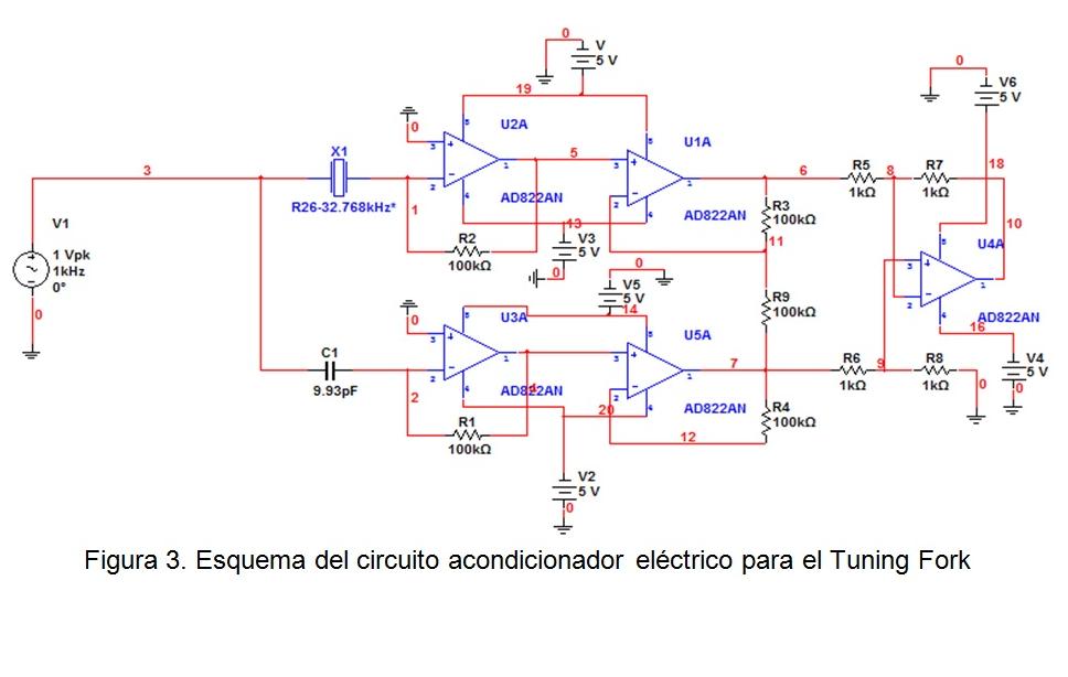 Circuito Electronico : Simulación circuito electrónico acondicionador para un