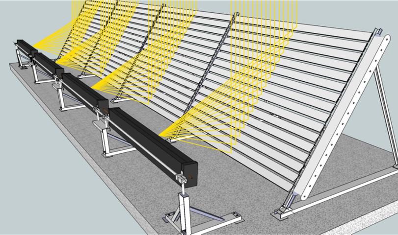 nouveau concept de concentrateur solaire pv th srlo syst me r fl chissant lames orientables. Black Bedroom Furniture Sets. Home Design Ideas