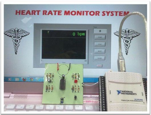 Using LabVIEW and NI USB DAQ to Develop a Heart Rate
