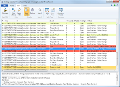 LabVIEW Desktop Execution Trace Toolkit