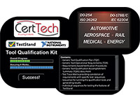 Tool Qualification Kit for NI TestStand - CertTech, LLC