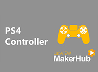 Interface for PS4™ Controller by LabVIEW MakerHub